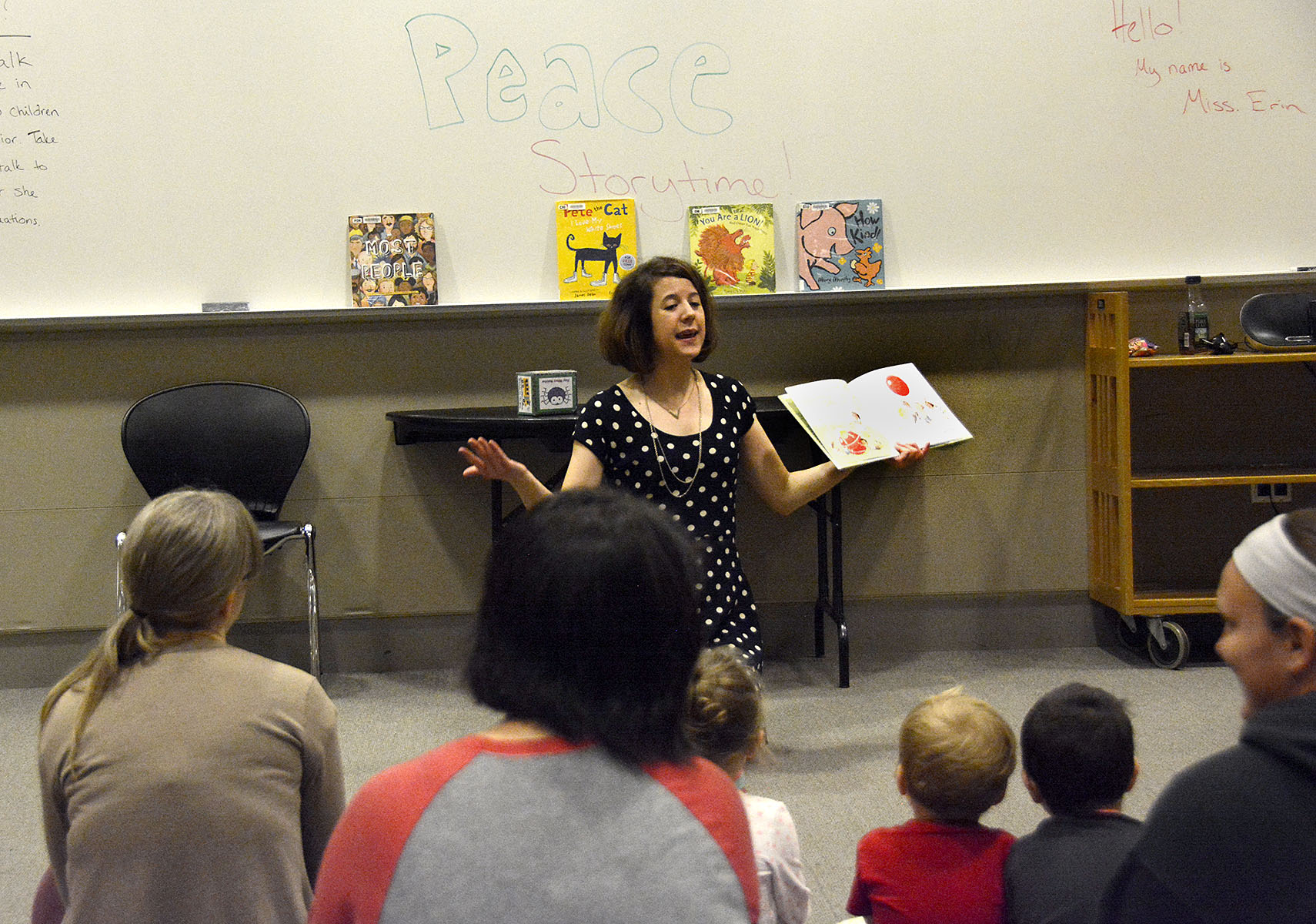 Peace Story Time reading